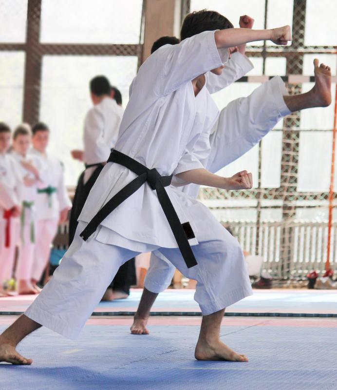 Resistance breathing is important in karate.