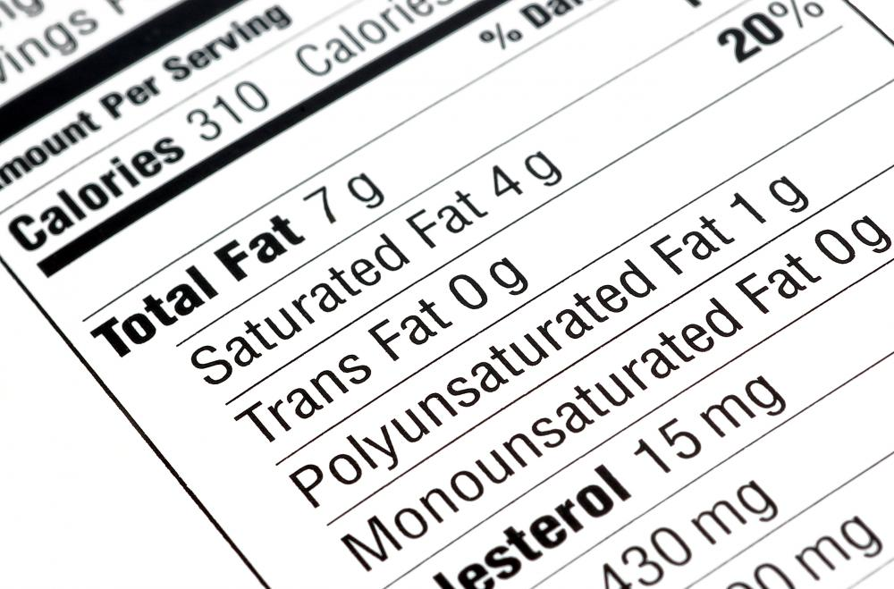 There are many types of fats found in food, including saturated and trans fat.
