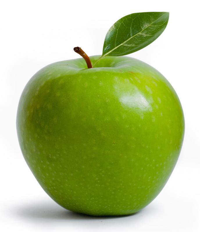 Apples are rich in flavonoids.