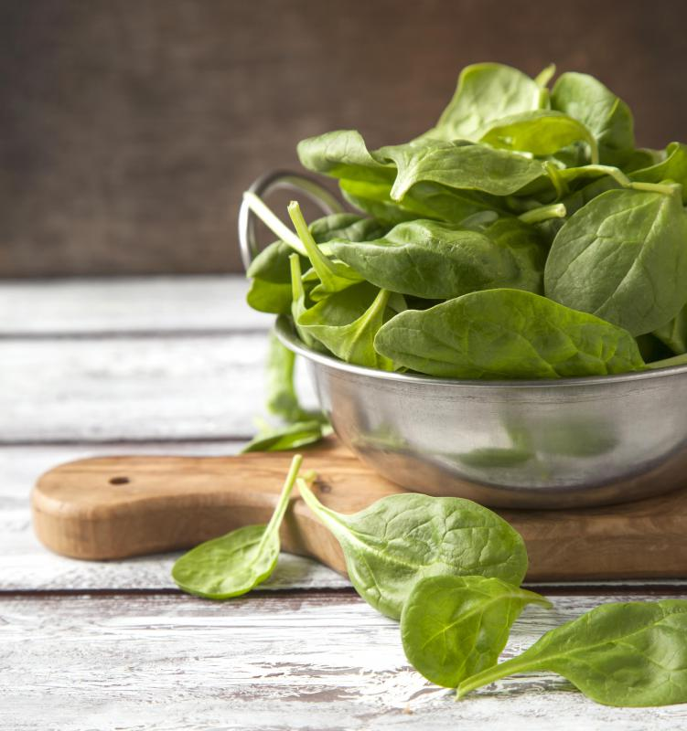 Spinach is a purine-rich food.
