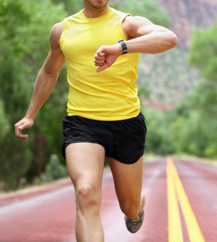 Aerobic conditioning can be achieve through distance running.