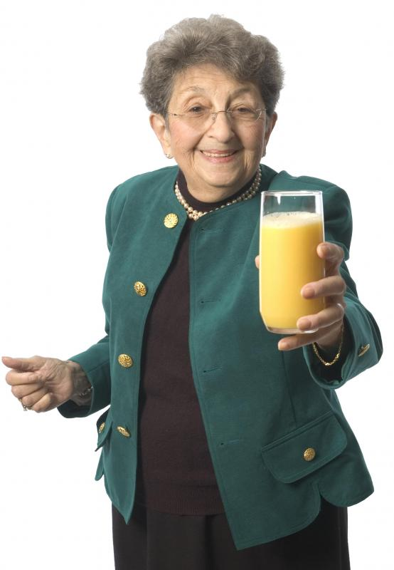 The elderly often suffer from Vitamin C deficiency, so should make sure they eat a balanced diet.