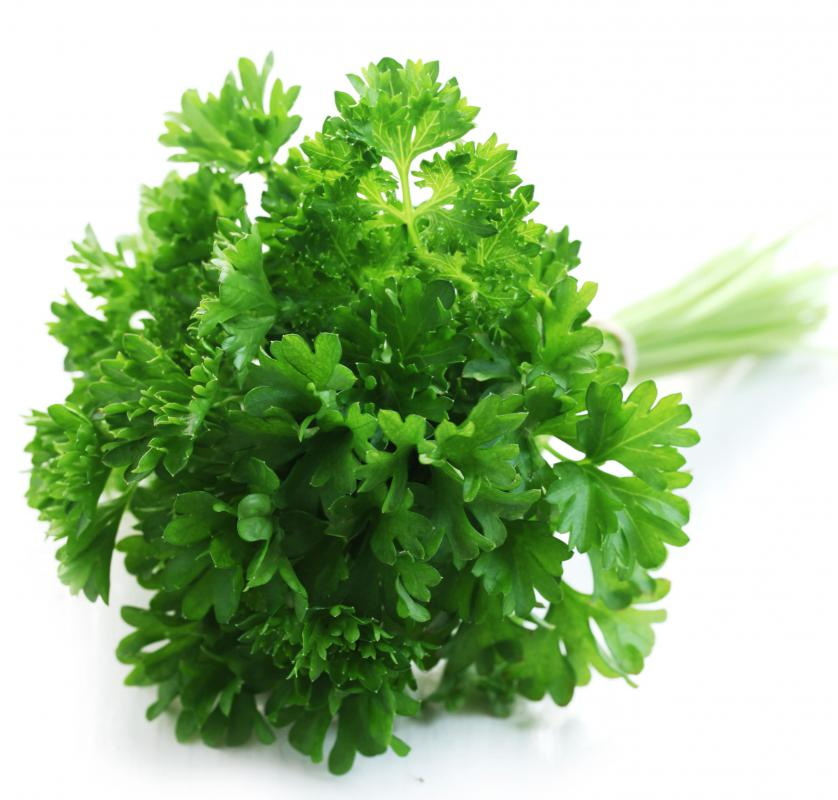 Flavones are present in parsley.