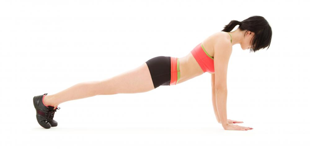 The plank pose strengthens the upper body.