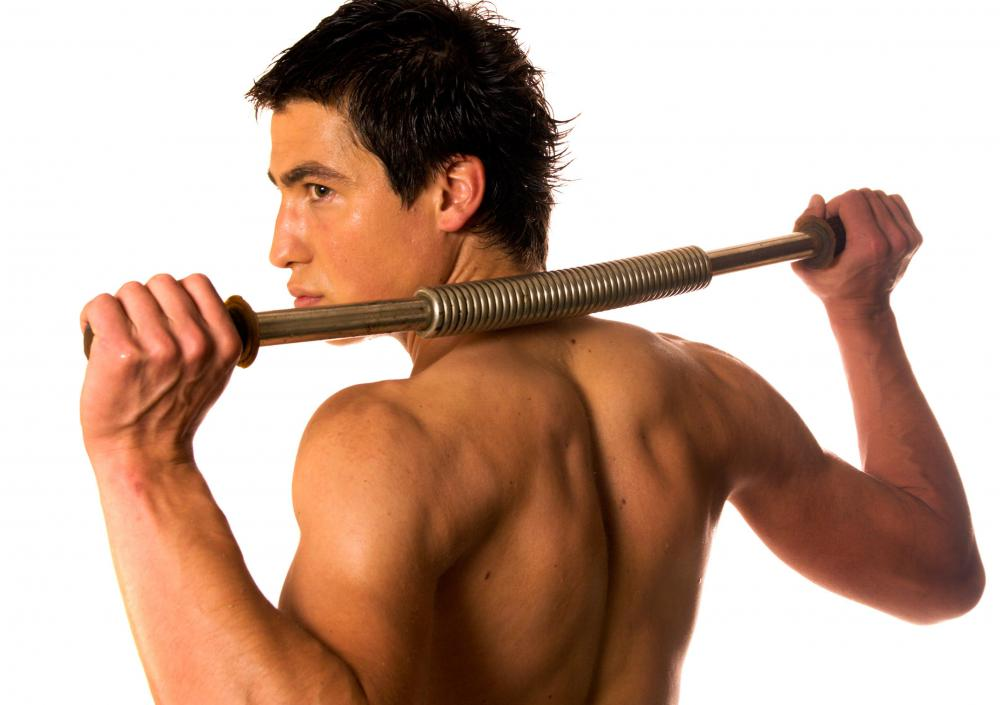 A power twister is a useful upper body strengthening tool that uses the mechanical resistance of a spring.