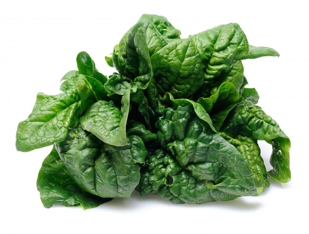 Spinach, which contains vitamin K1.